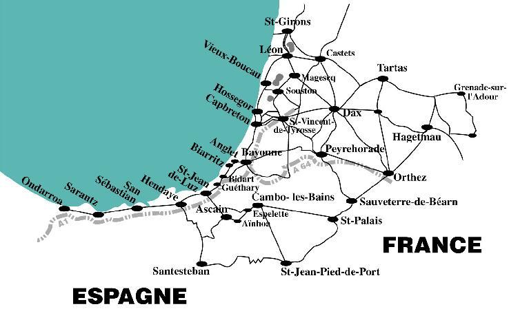 Vtt loisirs - Distance biarritz saint jean pied de port ...